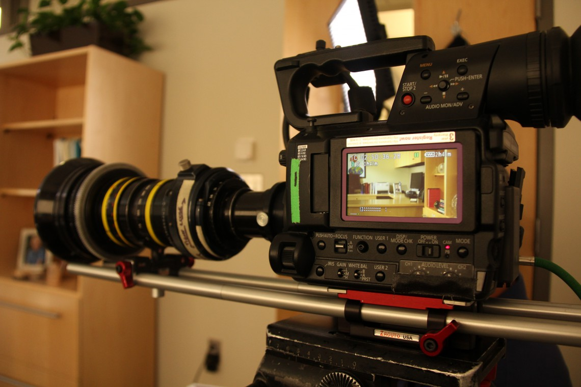 Panasonic AF100 with Angenieux Zoom lens