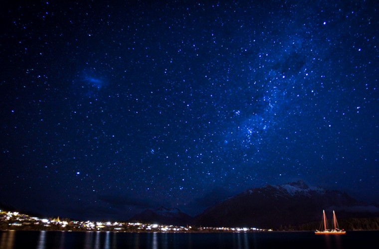 Starry night in Queenstown