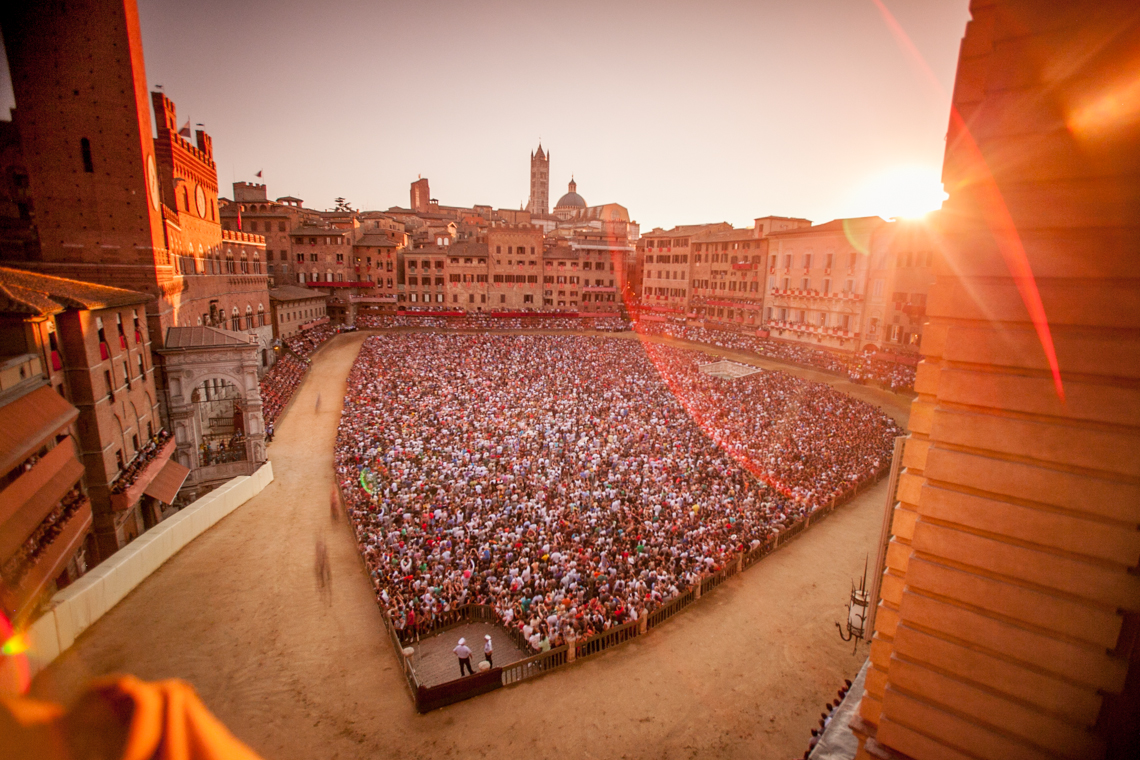 The Palio at Sunset