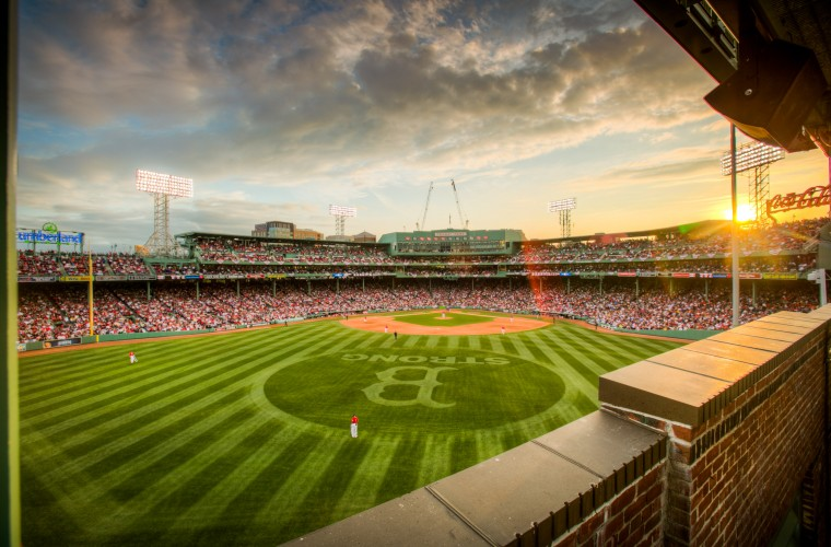 Fenway Boston Strong sunset