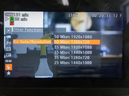 C300 Bit Rate/Resolution